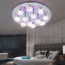 Deco LED Ceiling Lamp 50cm Round Dining Room Flowers Light Effect Glass Lighting