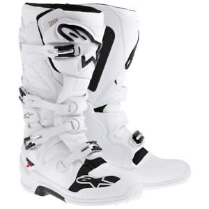 Alpinestars Tech 7 Motocross Offroad Race Boots White Adults