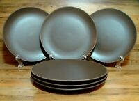 "SET OF 6 - IKEA SWEDEN DINERA - MATTE BROWN - 10 1/4"" DINNER PLATES - EUC 12011"