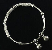 sterling silver filled bangle bracelet baby BOY GIRL children  FREE gift Bag AU