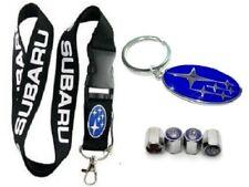 Subaru Lanyard + Metal Key chain + Stem Valve BRZ Impreza WRX Legacy Crosstrek