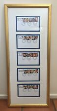 Face of Australia 2000, framed first day covers x 5, stamped Melbourne GPO Jan 1