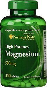 Puritans Pride Magnesium 500 Mg - 250 Tablets