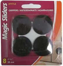"""Magic Sliders 8pk 1-1/2"""", Round, Self Stick Furniture Gripper Pad 77712"""
