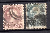 Canada 1868 15c Large Heads (2 shades) used WS21263