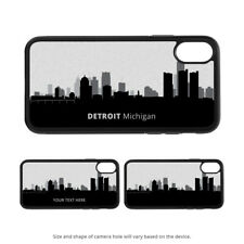 Detroit MI Skyline caso para iPhone 11 X XS XR Pro Max Galaxy S10 S9 8 7 K0 Plus