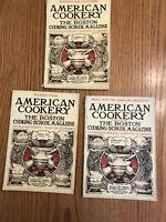 3 vintage american cookery magazine feb 1923 april 1924 oct. 1925 boston mass.