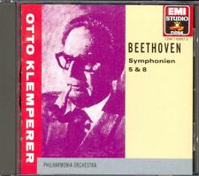 BEETHOVEN - Symphonies 5 & 8 - Otto KLEMPERER / Philharmonia Orchestra - EMI