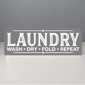 Metal Sign, Laundry Room Sign, Utility Vintage style, Modern grey sign Elegant