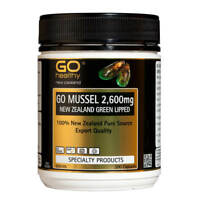 Go Healthy GO Mussel 2,600mg Capsules 300- New Zealand Green Lipped Mussel