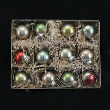Gisela Graham Box 12 Antiqued Mini Glass Spots Bauble Christmas Tree Decorations