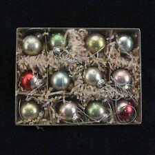 Gisela Graham Box 12 Antiqued Mini Glass Spots Bauble Christmas Tree Decorations
