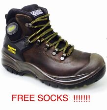 BLACK/BROWN - GRISPORT CONTRACTOR  WORK BOOTS STEEL TOE S3 SAFETY HIKER