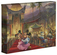Thomas Kinkade Studios Mickey and Minnie In Hollywood 8 x 10 Canvas Wrap