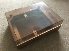 GOLDRING LENCO L75/78 VINTAGE SWISS TURNTABLE PLINTH WITH LID