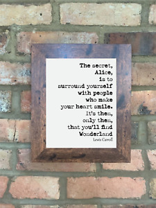 A4 Lewis Carroll Quote Print Unframed Alice In Wonderland Art Wall Minimalist