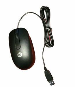 NEW Genuine HP USB Optical Mouse 672652-001 Black  - 2 Button + Scroll NIP