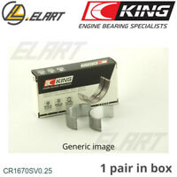 King Big End Con Rod Bearings CR1670SV 0.25 For Mercedes OM-651 2.1 16V DIESEL