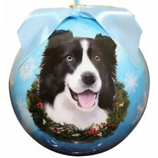 BORDER COLLIE  ~ CHRISTMAS BALL ORNAMENT    #5