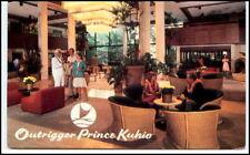 Vintage Pc HAWAII Outrigger Prince Kuhlo  Hotel Waikiki