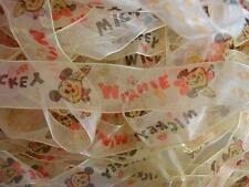 "5 yard Mickey & Minnie Organza 1"" Ribbon/craft/gift/cute/Sheer/trim/bow/doll R84"