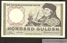 Nederland - Netherlands 100 Gulden Erasmus 1953  Pr- / Vf-  - 4SH020090