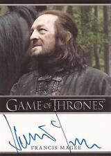 """Game of Thrones Season 2 - Francis Magee """"Yoren"""" Autograph Card"""