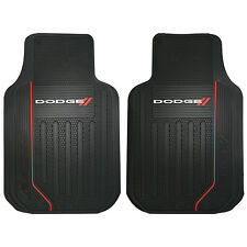 NEW 2pc FRONT RUBBER FLOOR MATS SET FOR CARS VANS TRUCKS Universal for Dodge