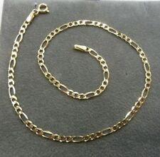 25cm Long - 1.6 grams 9ct Solid Gold Figaro Chain Anklet