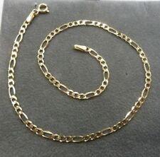 9ct Solid Gold Anklet - Figaro Link - 1.7 grams