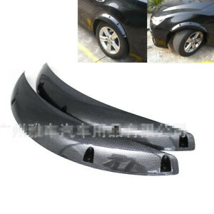 2PCS Car Truck Fender Flares Wheel Arch Molding Trim Spoiler Carbon Fiber Look
