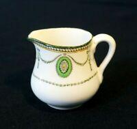Beautiful Royal Doulton Countess Green Rim Small Creamer Circa 1920