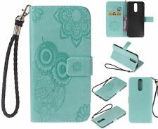 Owl Stand Leather Card Wallet Magnetic Case Cover For Samsung Huawei Sony Phone
