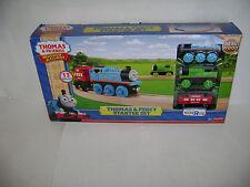 Fisher-Price Friends Train Tracks Wood Wooden Railway Thomas & Percy Starter Set