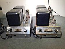McIntosh MC75 one pair vacuum tube mono power amplifiers unrestored workin cond