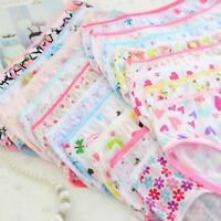 6pcs Fashion Baby Kids Girls Floral Underwear Soft Cotton Panties Short Briefs