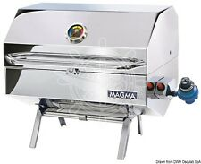 MAGMA Polished Stainless Steel Gas Barbecue with Infrared Grilling Technology