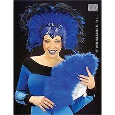 Accessori blu piuma Widmann per carnevale e teatro
