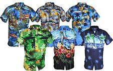 Mens HAWAIIN Style Beach Holiday Shirt Hawaii Party Top Stag Aloha Summer