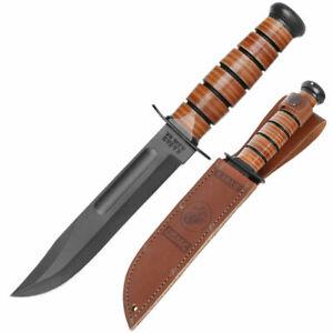KA- BAR Knife Tactical Military US Carbon Steel The USMC Legend 1217 + Sheath