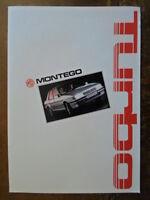 MG MONTEGO TURBO orig 1986 Belgian Sales Brochure Depliant - Austin Ref EO255