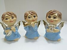 New Listing3 Angels Vintage Ceramic Figurines Lot E-3111 Christmas #A3519