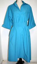 New listing Anjac Fashions Womens Size 18 Shirt Dress Turquoise Blue Cuffed 3/4 Sleeve Belt