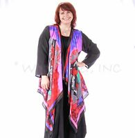 DILEMMA Hand-Painted SILK Art-to-Wear  432 SCARF STYLE JACKET  Duster OS PICASSO