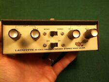 "#4 of 4, NICE OLD VTG ""LAFAYETTE 99-45635 TRANSISTORIZED STEREO MIKE MIXER"" MIC"