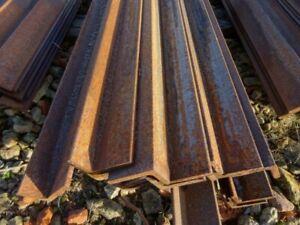 12.225 Mtr 100 mm x 65 mm x 10 mm Mild Steel Angle Iron  Unused Stock Rusty Uneq
