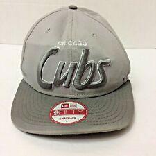 New Chicago Cubs Gray 59Fifty Authentic New Era Script Snapback MLB Hat Cap