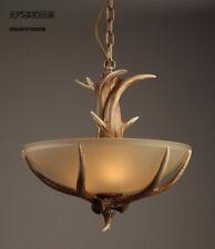 Antler Matte Glass Pendant Chandelier E27 Light Ceiling Lamp Cafe Lighting New