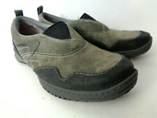 MERRELL Women US 7.5M Granite ALBANY Suede Leather Slip On Mocs Flats Shoes