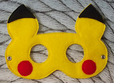 Handmade Kids Mask - Pikachu from Pokemon - Dress up costume